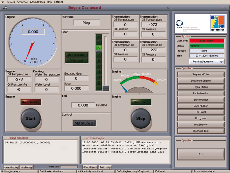 Motor Test Bed Control